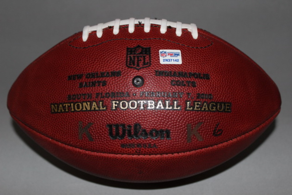 Disaster Relief - SUPER BOWL 44 GAME USED K FOOTBALL (Saints vs Colts)
