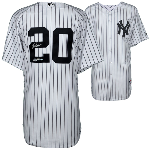 Photo of Jorge Posada New York Yankees Autographed Home Jersey