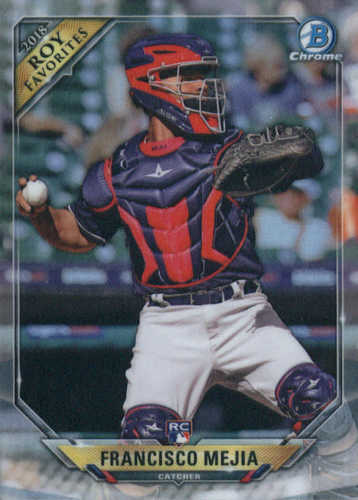 Photo of 2018 Bowman Chrome Rookie of the Year Favorites Refractors #ROYFFM Francisco Mejia