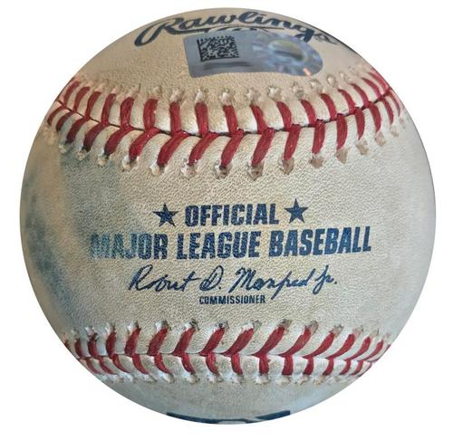 Photo of Game-Used Baseball from Pirates vs. Phillies on 7/6/18 - Nick Williams Single, Scott Kingery Foul