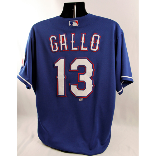 Photo of Game-Used Blue Jersey - Joey Gallo - 8/21/18