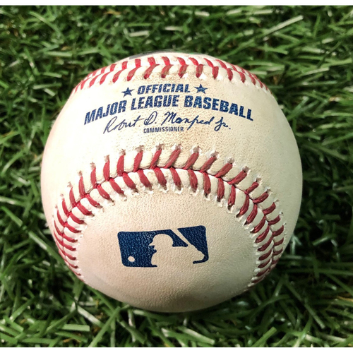Photo of Game Used Baseball: Ryne Stanek strikes out Vladimir Guerrero Jr. - May 28, 2019 v TOR