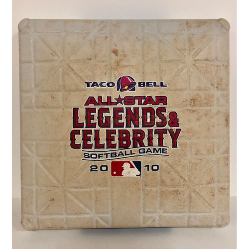 Photo of 2010 All-Star Legends & Celebrity Softball Game Used 1st Base -  Innings (1st - 5th) - July 11th