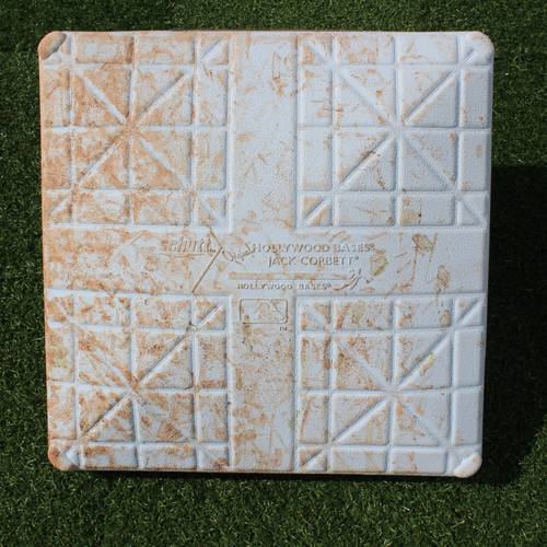 Photo of Game-Used 1st Base: Randy Arozarena MLB Debut - 1st Career Hit (Innings 6-9 - STL @ KC - 8/14/19)