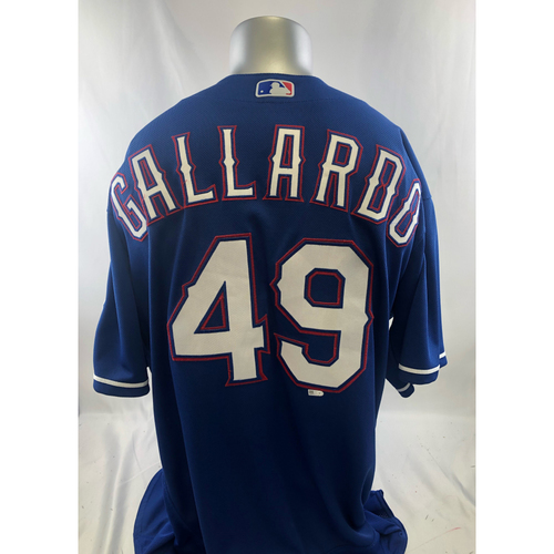 Photo of Game-Used Blue Jersey - Yovani Gallardo - 6/23/18