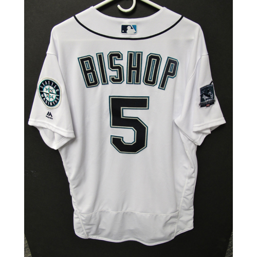 Photo of Seattle Mariners 2019 Braden Bishop Game-Used Jersey - Edgar Martinez Hall of Fame Celebration Weekend - August 9-11