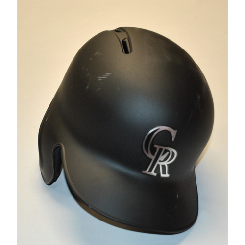 "Photo of Kyle ""F. STANLEY"" Freeland Colorado Rockies Team Issued 2019 Players' Weekend Helmet"