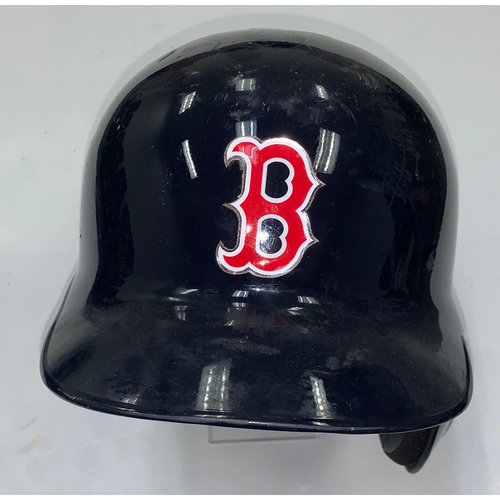 Photo of Sam Travis September 29, 2018 Game Used Batting Helmet