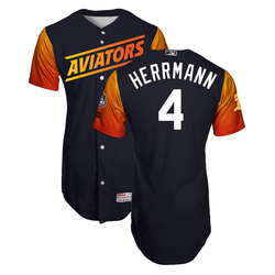 Photo of Chris Herrmann #4 Las Vegas Aviators 2019 Home Alternate Jersey
