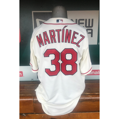 Photo of Cardinals Authentics: Jose Martinez Game Worn Saturday Ivory Jersey