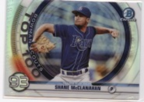 Photo of 2020 Bowman Chrome Scouts Top 100 #BTP93 Shane McClanahan