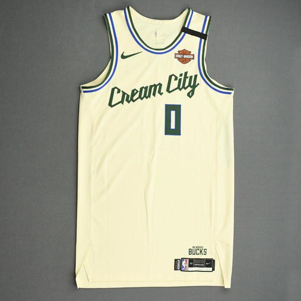 Image of Donte DiVincenzo - Milwaukee Bucks - Game-Worn City Edition Jersey - 2019-20 NBA Season Restart with Social Justice Message