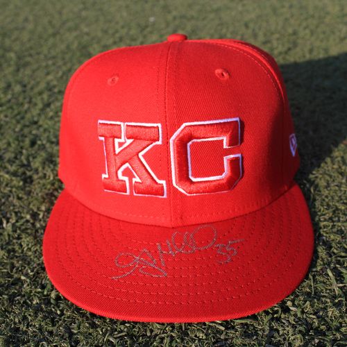 Photo of Autographed Monarchs Cap: Greg Holland (STL @ KC 9/22/20)