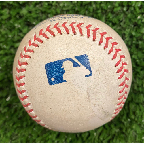 Photo of Dansby Swanson Game Used Home Run Baseball, pitched by Tanner Houck - September 26, 2020
