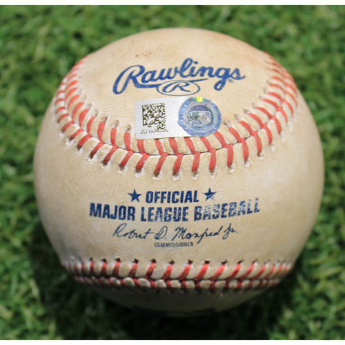 Photo of Game-Used Baseball: JT Riddle Career 161st Hit (PIT @ KC 9/13/20)