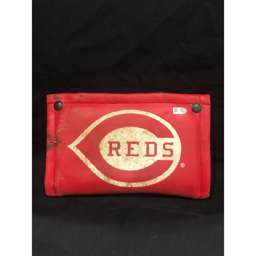 Photo of Nick Senzel MLB Debut -- Game-Used Pine Tar Rag from On-Deck Circle -- Used During Nick Senzel's First Major League Game -- Giants vs. Reds on 5/3/2019