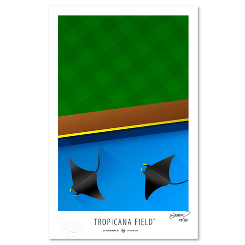 Photo of Tropicana Field - Collector's Edition Minimalist Art Print by S. Preston Limited Edition /350  - Tampa Bay Rays