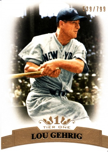 Photo of 2011 Topps Tier One #4 Lou Gehrig