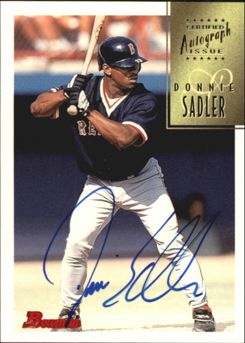 Photo of 1997 Bowman Certified Blue Ink Autographs #CA72 Donnie Sadler