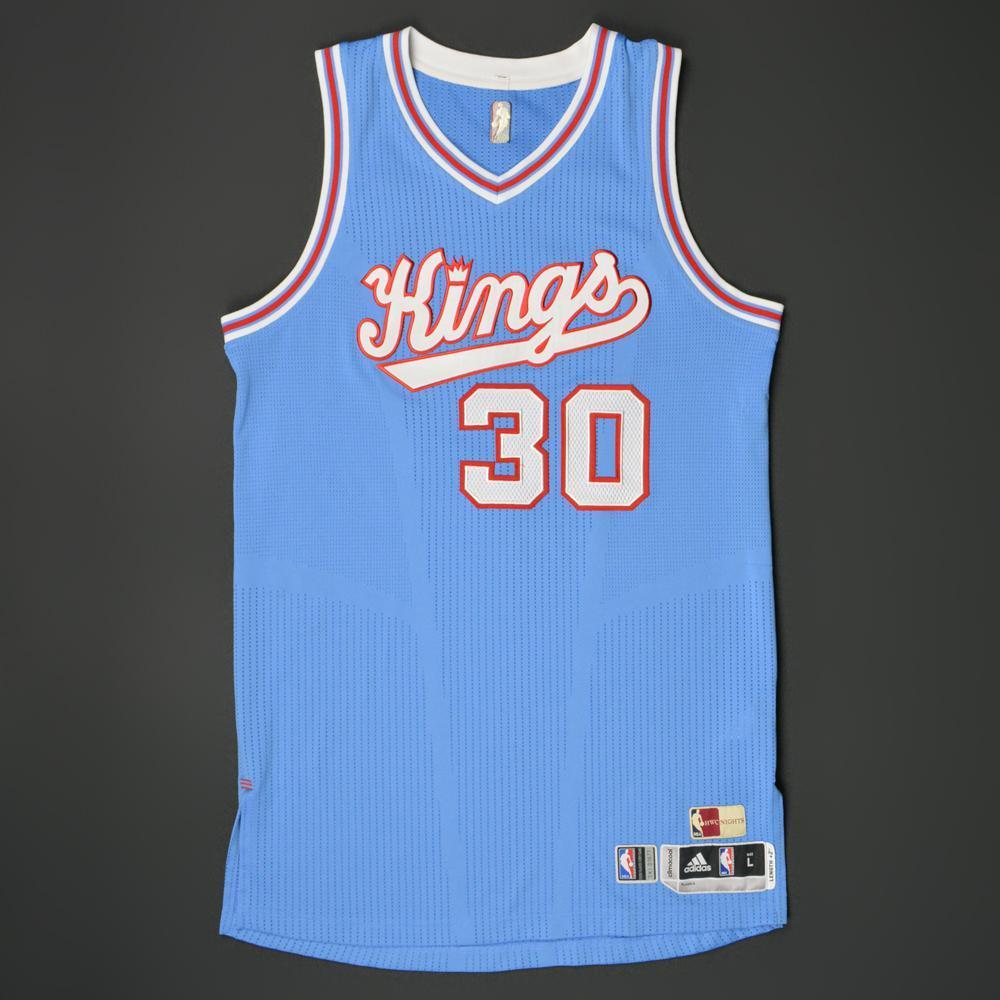 size 40 20b2c 93383 Seth Curry - Sacramento Kings - Game-Worn '1985-86 Road ...