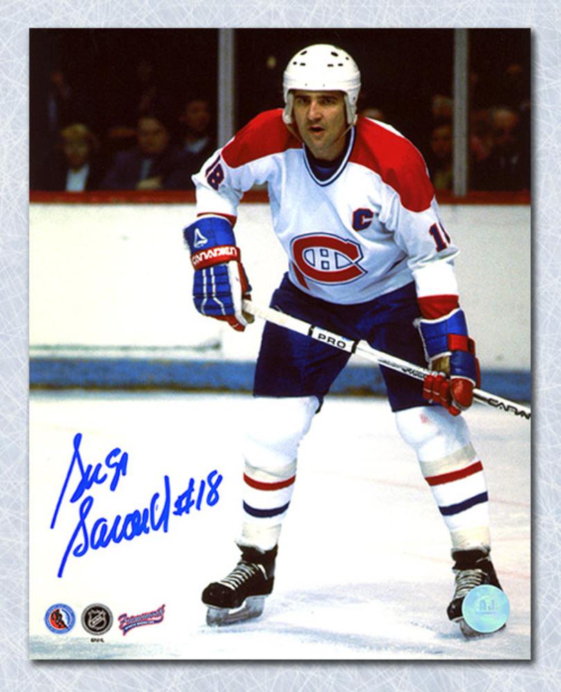 Serge Savard Montreal Canadiens Autographed Habs Captain 8x10 Photo
