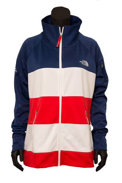 Photo of Official U.S. Freeskiing North Face Women's Village FZ Cadet Zip Top (Size XL)
