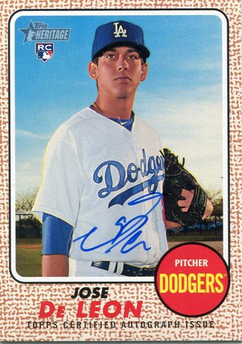 Photo of 2017 Topps Heritage Real One Autographs #ROAJDE Jose De Leon