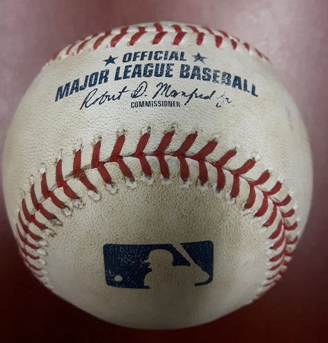 Photo of Authenticated Player Collected Baseball - Kendrys Morales Walkoff HR Baseball (July 26, 2017)