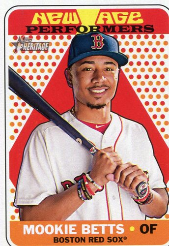 Photo of 2018 Topps Heritage New Age Performers #NAP1 Mookie Betts