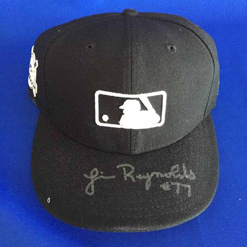 Photo of UMPS CARE AUCTION: Jim Reynolds Signed 2017 Postseason MLB Cap - Size 7 1/8 - Not MLB Authenticated