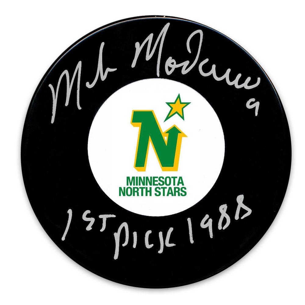 Mike Modano Minnesota North Stars 1st Pick 1988 Autographed Puck