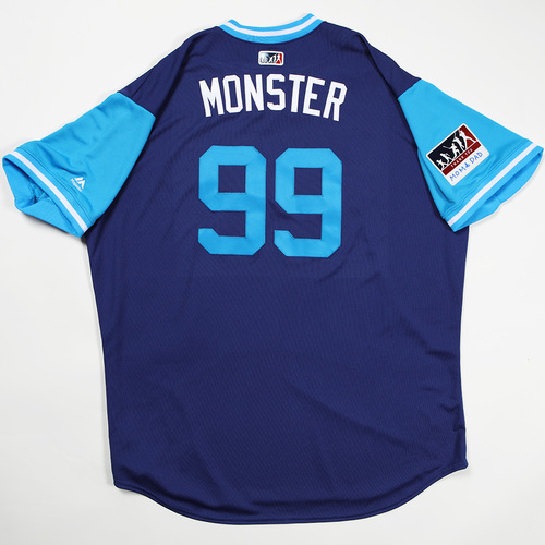 "Photo of Hyun-Jin ""Monster"" Ryu Los Angeles Dodgers Game-Used 2018 Players' Weekend Jersey"