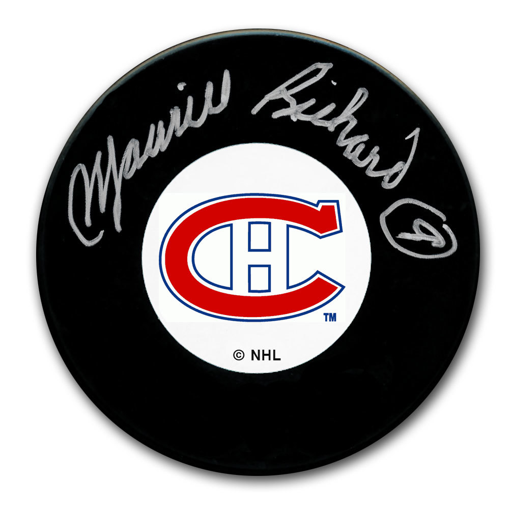 Maurice Richard Montreal Canadiens Autographed Puck PSA