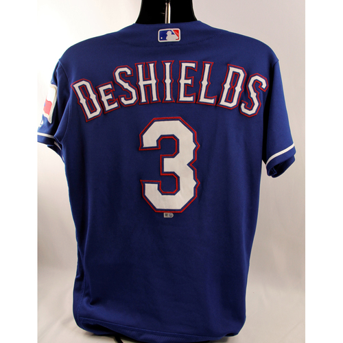 Photo of Game-Used Blue Jersey - Delino DeShields - 5/16/18, 6/10/18, 6/23/18