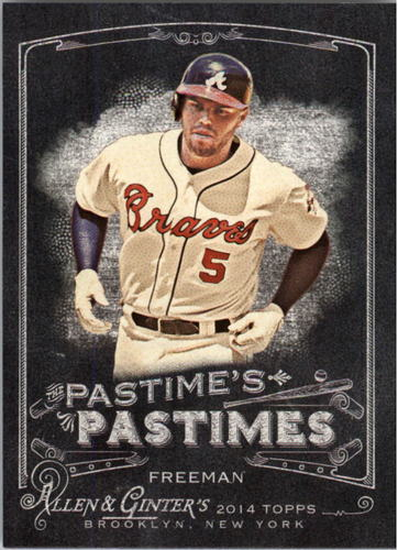 Photo of 2014 Topps Allen and Ginter The Pastime's Pastime #PPFF Freddie Freeman