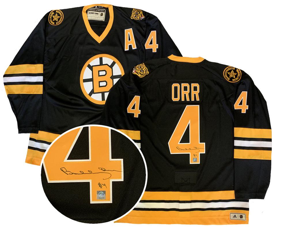 Bobby Orr Signed Jersey Bruins Vintage Adidas Black 1974-75