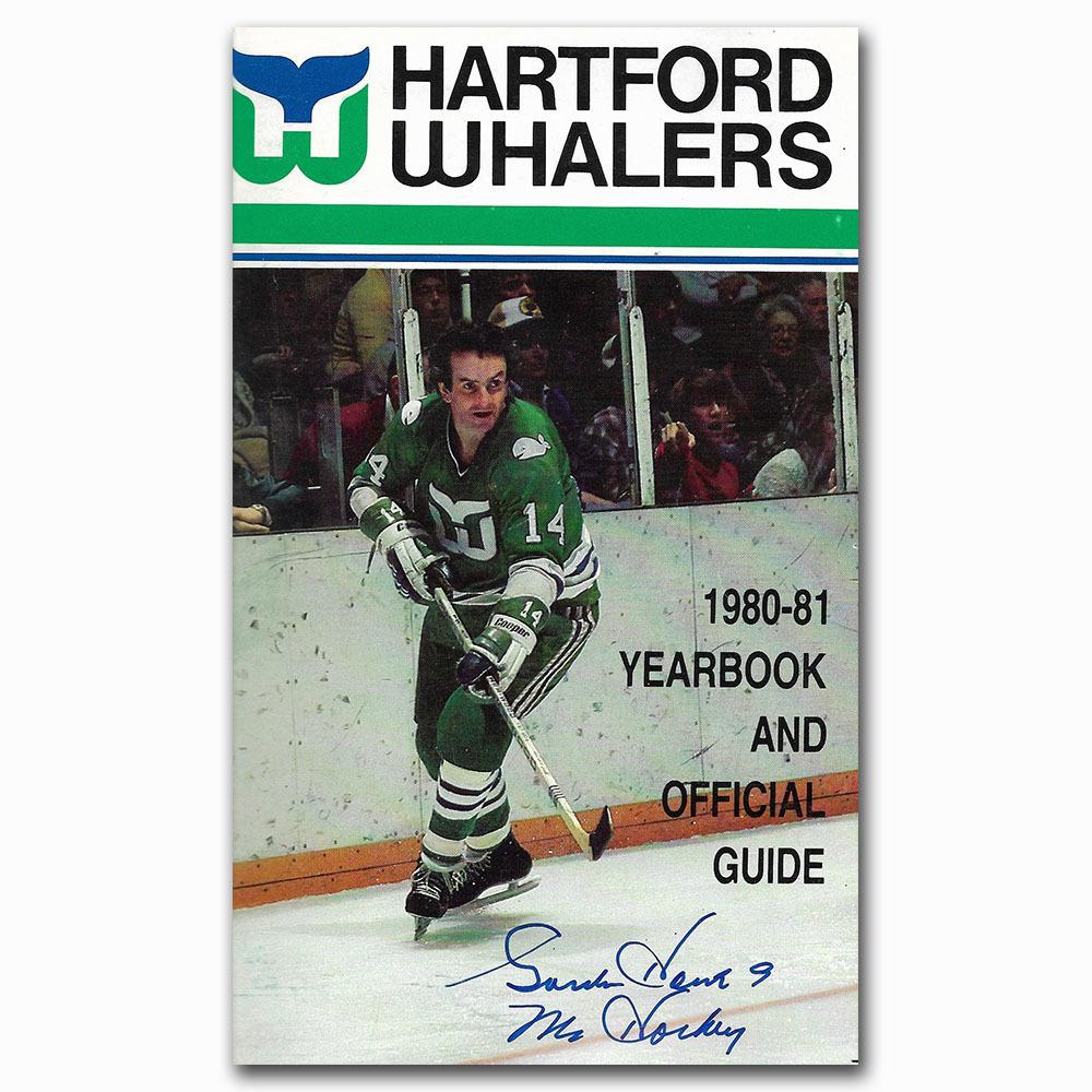 Gordie Howe Autographed Hartford Whalers 1980-81 Yearbook