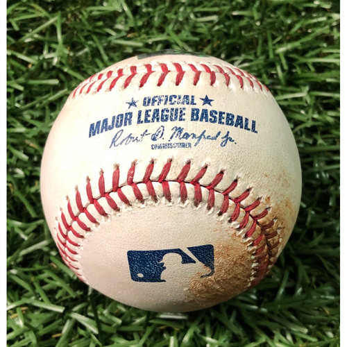 Photo of Game Used Baseball: Brandon Lowe 2RBI double off Trent Thornton - May 29, 2019 v TOR