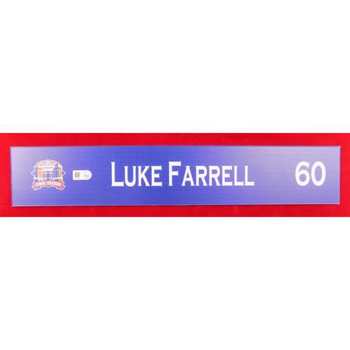 Photo of Final Season Game-Used Locker Tag - Luke Farrell - 9/13/19 vs OAK