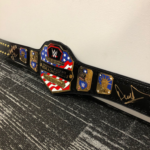 Photo of Andrade SIGNED United States Championship Replica Title Belt