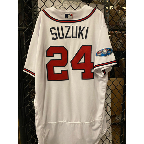 Photo of Kurt Suzuki Game Used Jersey from 2018 NLDS - Worn 10/8/2018
