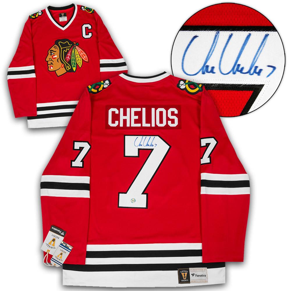 Chris Chelios Chicago Blackhawks Autographed Fanatics Vintage Hockey Jersey