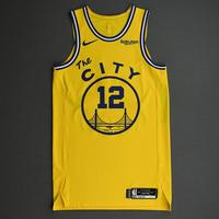 Ky Bowman - Golden State Warriors - Game-Worn Classic Edition 1966-67 Home Jersey - 2019-20 NBA Season