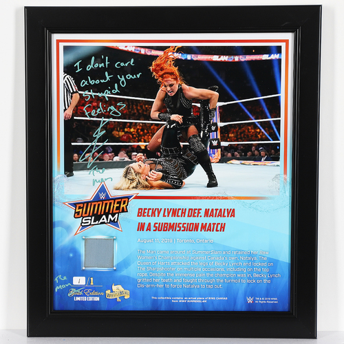 Becky Lynch SIGNED Custom The Man Edition Plaque (1 of 1)