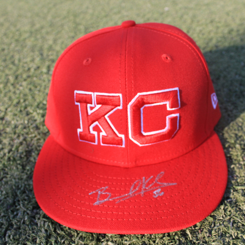 Photo of Autographed Monarchs Cap: Brad Keller (STL @ KC 9/22/20)