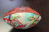 Jaguars Customized Artist Football Autographed by Collin Johnson - Palm Trees depicted in artwork