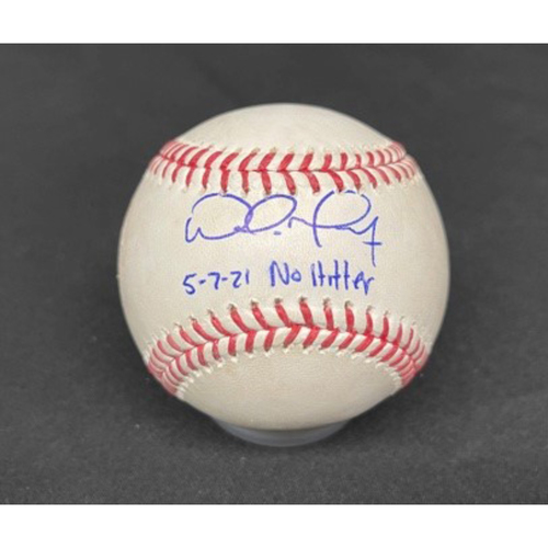 Photo of Wade Miley No-Hitter - *Autographed Game-Used Baseball* - Bot 4 - Wade Miley to Cesar Hernandez (Ball) - Inscribed as 5-7-21 No Hitter