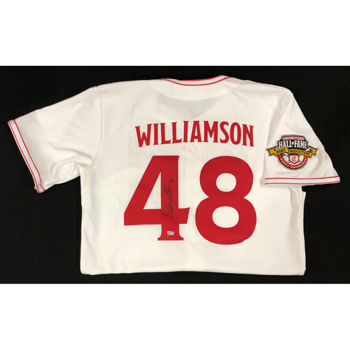 Photo of Scott Williamson - AUTOGRAPHED Game Used Jersey: Reds Hall of Fame Legends Game