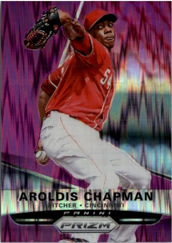 Photo of 2015 Panini Prizm Prizms Purple Flash #29 Aroldis Chapman