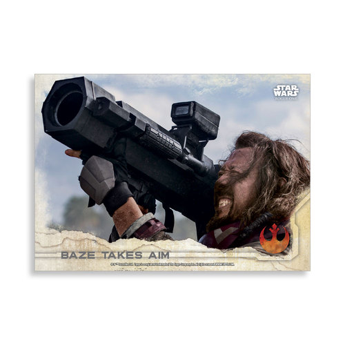 Baze takes aim 2016 Star Wars Rogue One Series One Base Poster - # to 99